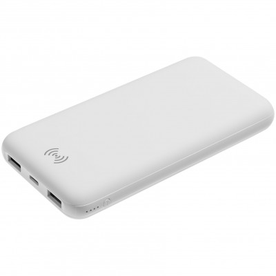 Aккумулятор Quick Charge Wireless 10000 мАч, белый